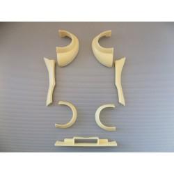 Pièces Carrosserie 4cv Proto base Solido 1/16ème