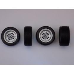 Jeu de 4 roues Opel 1/18ème